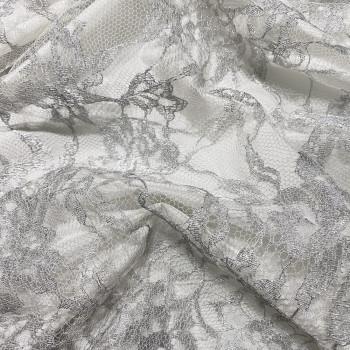 Calais lace silver laminette
