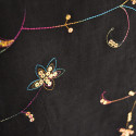 Embroidered velvet fabric with multicolored sequins