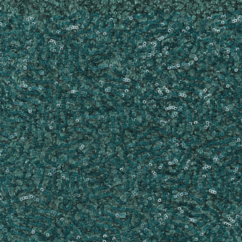 Fantasy wool fabric sequins turquoise blue