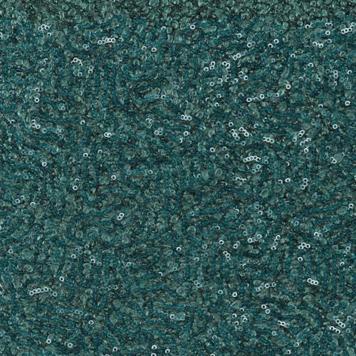 Tissu laine fantaisie paillettes bleu turquoise
