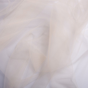 Tissu tulle illusion ivoire (90 centimètres)
