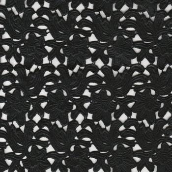 Tissu guipure noire (90 centimètres)