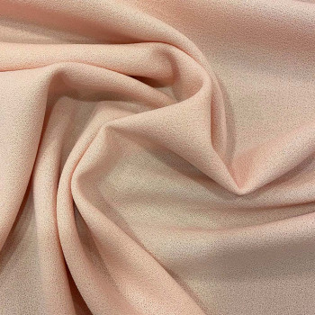 Salmon wool crepe fabric 100% wool