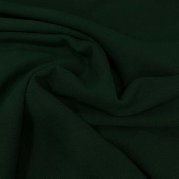 Pine green crepe 100% wool fabric