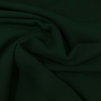 Pine green wool crepe fabric 100% wool