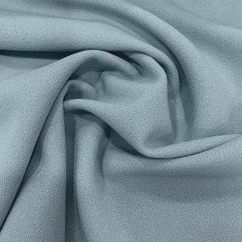 Sky blue crepe 100% wool fabric