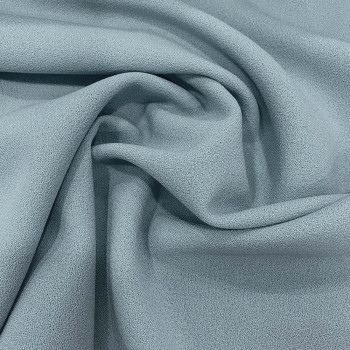 Sky blue wool crepe fabric 100% wool