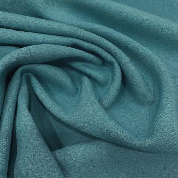Ocean blue crepe 100% wool fabric