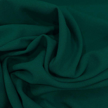 Turquoise blue wool crepe fabric 100% wool