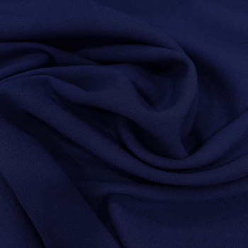 Dark royal blue wool crepe fabric 100% wool