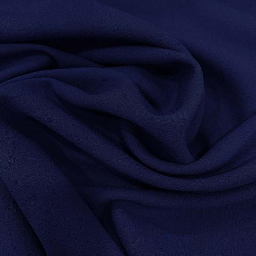 Tissu crêpe de laine 100% laine bleu royal foncé
