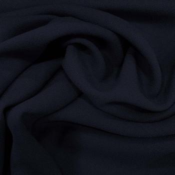 Navy blue crepe 100% wool fabric
