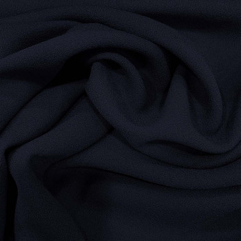 Navy blue wool crepe fabric 100% wool