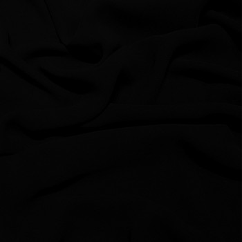 Black viscose georgette fabric