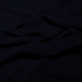 Navy blue viscose georgette fabric