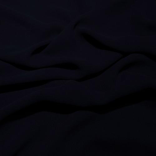 Tissu crêpe georgette viscose bleu marine