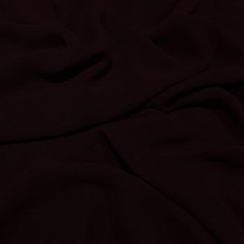 Tissu crêpe georgette viscose rouge lie de vin
