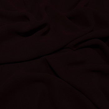 Wine red viscose georgette fabric