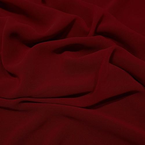 Tissu crêpe georgette viscose rouge foncé