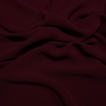Tissu crêpe georgette viscose rouge bordeaux