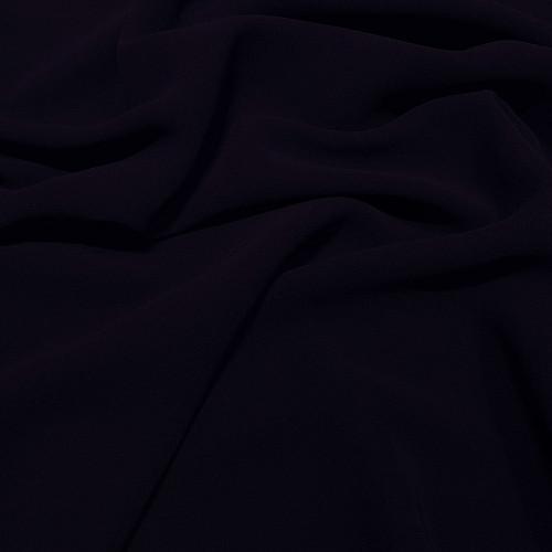 Tissu crêpe georgette viscose bleu encre
