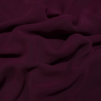 Plum purple viscose georgette fabric