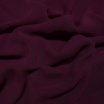 Tissu crêpe georgette viscose violet prune