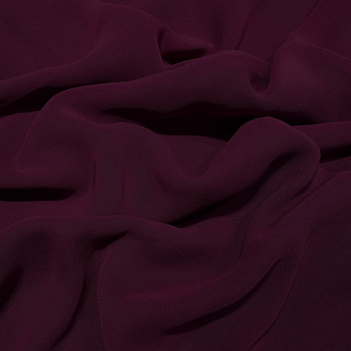 Plum purple viscose georgette fabric
