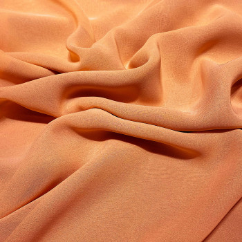 Apricot orange viscose georgette fabric