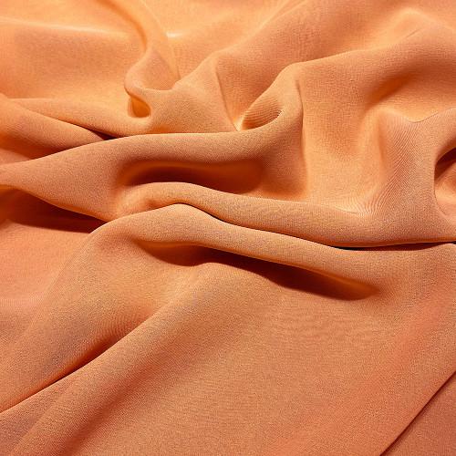 Apricot orange viscose georgette fabric
