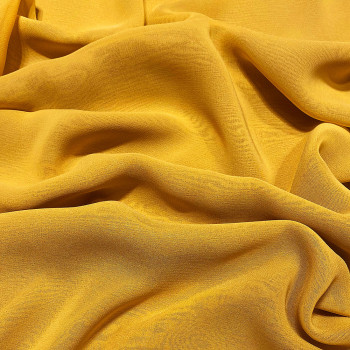 Yellow viscose georgette fabric