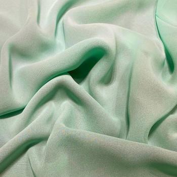 Tissu crêpe georgette viscose vert Nil