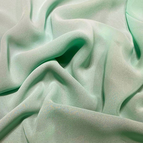 Nile green viscose georgette fabric