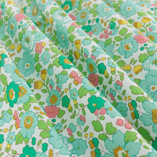 Tissu Liberty Betsy vert