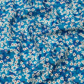 Tissu Liberty Mitsi bleu
