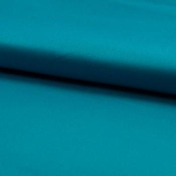 Tissu satin de coton bleu turquoise