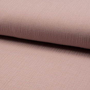 Old pink double gauze cotton fabric