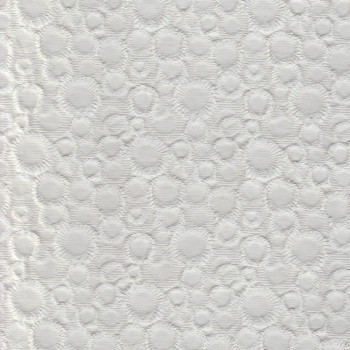 White jacquard cotton piqué fabric