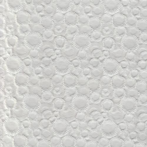 Tissu piqué de coton jacquard blanc