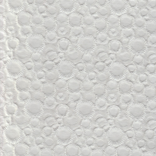 White jacquard cotton piqué fabric