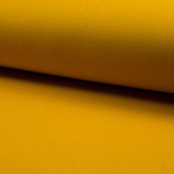 Tissu molleton sweat jaune
