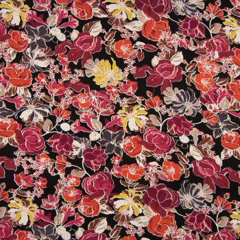 Tissu viscose imprimé floral