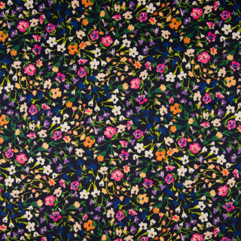 Floral printed cotton satin fabric