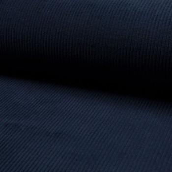 Tissu velours côtelé à grosses côtes bleu marine