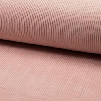 Tissu velours côtelé à grosses côtes nude