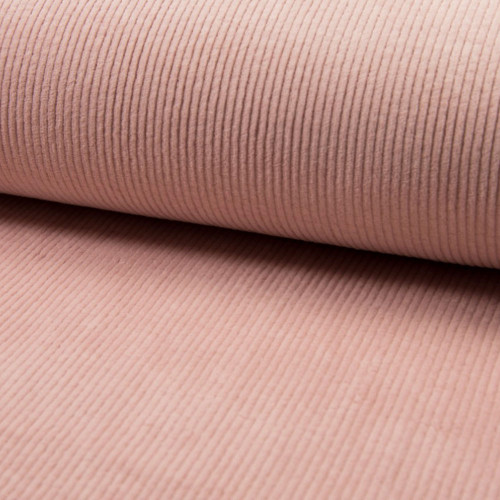 Nude thick ribbed corduroy fabric