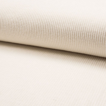 Off white thick ribbed corduroy fabric