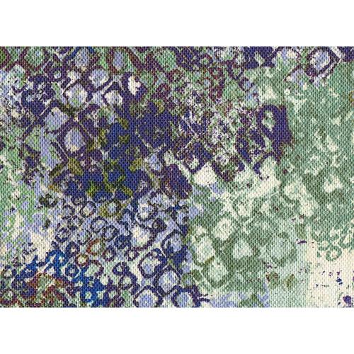 Tissu imprimé polyester multicolore