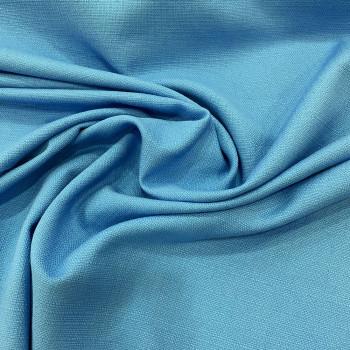 Tissu piqué de coton turquoise