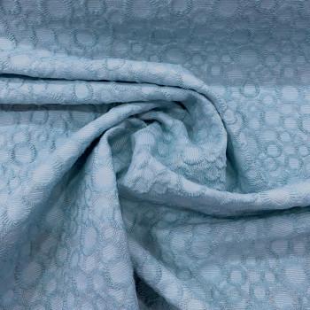 Blue jacquard cotton piqué fabric